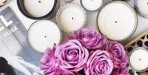 DECORATIVE CANDLE IDEAS: HOME FRAGRANCE / The most beautiful scented candles and inspiration images.