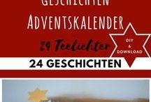 ADVENTSKALENDER / Tolle Ideen für Adventskalender! Bastelanleitungen und kostenlose Vorlagen zum Downloaden findest du hier! Schöne Alternativen zum klassischen Schokikalender...