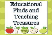 Educational Finds and Teaching Treasures / A place where INNOVATION can be found to teach the future generation. To receive an invite to pin, stop by my store on TPT and message me your Pinterest email. https://www.teacherspayteachers.com/Store/Innovative-Teacher