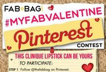 #MyFabValentine Contest / Request an invite by commenting on the cover with 'Invite me' & enjoy uploading & pinning pics of all the *FAB* gifts you'd love your valentine to gift you. Tell us why this gift is special to you and you could win a Clinique Lipstick