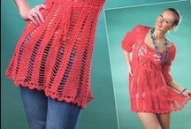 Crocheted and Wear it / dress, pants, shirts, shirts.... / by Maria Fuentes