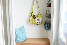 Entryway Organization & Decor / 100's of ideas for organizing your entry way or mud room.   From jacket organization to shoe storage, backpack organization to incoming paper storage.