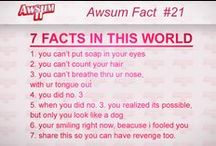 AwSum Facts / check out more at http://facebook.com/AwSumIt