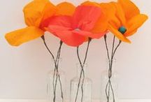 Paper Flowers / Flowers made with paper that never loose their colour