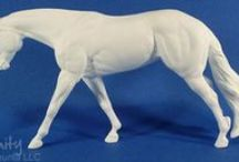 unpainted artist resin model horses / seunta unpainted artist resin model horses