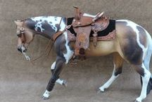 painted artist resin model horses / seunta resin model horses that are painted