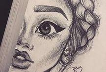 Drawings / Desenhos para se inspirar, aprender e reproduzir.
