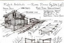 Architecture Drawings / Architecture drawings and renderings from sketchbooks and presentations. Sketches ideas of perspectives and sections of buildings.