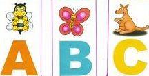 Alfabetos e fichas de leitura / Alfabetos de parede, para o aluno, de formas diferentes (divertidas, interessantes) e fichinhas de leitura.