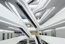 Zaha Hadid / Architecture and design inspiration from Zaha Hadid. Contemporary projects of buildings and interiors made of curves and light.