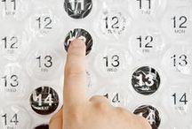 Calendar // Calendriers / by Géraldine Moine