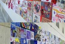Le PATCH! 2012 du Festival Textile(s)  / 600 carrés pour une installation collaborative intergénérationnelle sur le thème de l'enfance.  / by Marion & Sylvie Breton