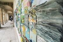 """Le PATCH' 2013 du Festival textile(s) / Une installation collaborative intergénérationnelle sur le thème """"En scène, en Seine"""".  / by Marion & Sylvie Breton"""