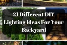 Backyard Lighting Ideas DIY / DIY backyard lighting ideas for summer nights! Throwing a party? Check out these ideas to brighten the night. Follow us for more backyard ideas!