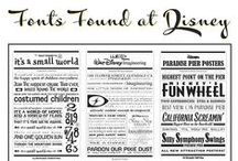 Disney Fonts, Logos and Images / A collection of fonts you will find in the Disney parks.