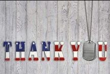 ∞ HONORING THOSE WHO SERVE / American Veterans have given themselves to us in their mission to serve & protect our country, it is our pleasure to honor their commitment to freedom.