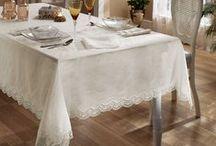 Tivolyo Home Masa Örtüsü Koleksiyonu / Zarif güpür işlemeli ve jakar kumaşlı masa örtüleriyle misafirlerinizi etkileyin.