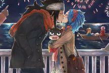 GaLe/GajeVy/GaVy [Gajeel x Levy] / Anime:Fairy Tail  Ship:Gajeel Redfox x Levy Mac Garden