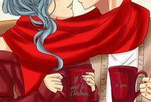 Shipps Fairy Tail / Varias parejas de Fairy Tail.LyVia StingLu LoLu GreyLu MiraXas...