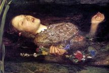 Pre-Raphaelites / I love the artists that called themselves the Pre-Raphaelites. Their paintings are romantic, detailed and refer back to mythology.