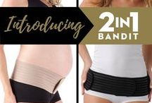 2- in-1 Bandit / A double dose of support.  Our 2-in-1 Bandit™ was specially designed to work with your body during and after pregnancy. While your bump grows, our band comfortably lifts and supports you in all the right places. Then, once you've delivered, it serves as a hip wrap to restore that pre-baby shape.   P.S. If you're looking for the Hip Bandit, you've found the right place, it has been updated!