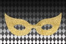 Masque-Απόκριες / Party masque decor/Αποκριάτικο ντεκόρ