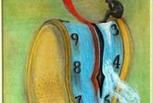 TO THINK OF TIME 2003 by Surrealist artist Manuel / To Think of Time (Σκεπτόμενος το χρόνο) 2003 painting by Manuel Mykonos