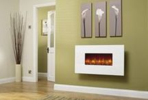 Wall Mounted Fires / Wall mounted fires are a great alternative to a full fireplace, still giving you the benefits of a fire in your home.