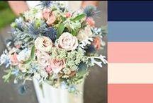 Hochzeit - Farbkonzept blau und apricot