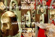 Brain Gate 2007 stone sculpture / Brain Gate 2007 stone sculpture by Manuel surrealist view details: http://www.calameo.com/read/0041208315ab7128c94e6
