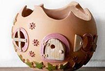 Honiglicht-Keramik / Elfenhäuser aus Keramik - Handgearbeitete Unikate aus meiner Werkstatt - www.honiglicht.de