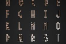 Typography+Letter Design / Lettering styles and techniques