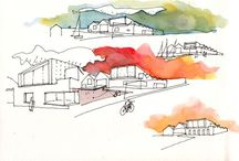 Watercolour+Ink Art / Gorgeous and inspiring watercolour and ink artworks
