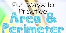 Teaching Area and Perimeter / Find resources, ideas, tips and strategies for teaching area and perimeter in the elementary grades. #math #elementary