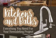 Kitchens and Baths / Whether your kitchen or bath needs a facelift or complete overhaul, we have remodeling solutions for DIYers of every skill level.