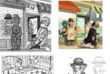 Book Illustrating / Peeks into the process of children's book illustration.