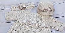 crochet christening clothing