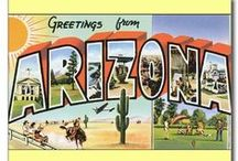 Greetings From . . .  / Old postcards from the past from around the USA.  I remember seeing these everywhere when we traveled cross country from New York to California twice when I was just a wee tike. / by Yankeelawdog