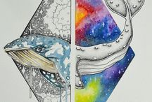 Art: Watercolour Sea Creatures