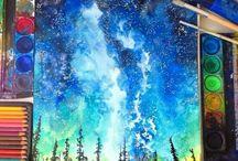 Art: Watercolour Galaxies