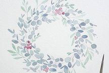 Art: Watercolour Wreaths