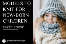 "Models for newborn children / You are expecting your first child and begin knitted, to try simple accessories as slippers or hats, in garter stitch or Jersey to go to Accessories Baby ""You have a good knitted level and look for an attractive complete model to be knit for a born present, it is enough to choose"