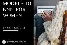 Models to knit for women / Our models to knit Woman elegant men wait for you to be made by you. Pullovers and cardigans, in pure wool, organic mixed or tricky wool, proposed in various sizes. Our models are accessible for all, novice or qualified.