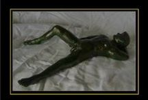 Sculptures created by Lidbury / These are all sculptural creations of artist:  Malcolm Lidbury  Devon & Cornwall police have repeatedly attempted to prevent the gay artist creating male nude art so ingrained is homophobia within the police