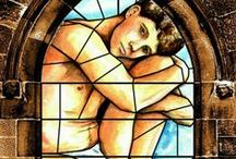 Stained Glass Windows for the Church of Antinous / Stained glass window designs created by artist Malcolm Lidbury