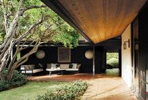 Framing landscape / Framing landscape by architecture, appealing pergola's, hedge-holes and gateways