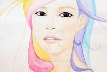 My Acrylic Paintings / Original Acrylic Paintings by Artist Kylie Sha