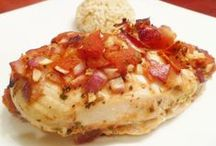 Chicken & Meat Recipes -- Healthy & Low Fat / You'll find chicken and meat recipes that are healthy and low fat. Enjoy some dishes that are satisfying without being fatty. #lowfat #chicken #meat