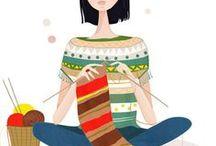 IMÁGENES tejiendo - Images knitting