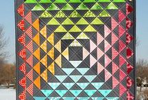 Quilts half square triangles